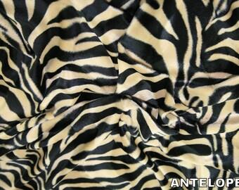 "Antelope - Animal Print Polyester Velboa Fabric - Metre/Half - Faux Fur Pony Skin 58"" (145cm) wide Velour"