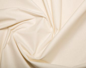 """Ivory - Extra Wide Cotton Sheeting Fabric 100% Cotton Material - 239cm (94"""") wide"""