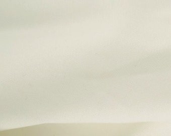 """White - 100% Cotton Canvas Fabric - Plain Solid Colour Material - 57"""" (146cm) wide"""