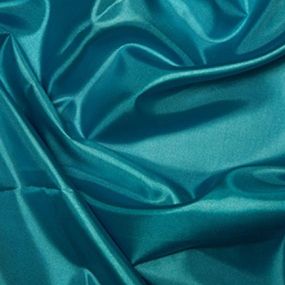 Turquoise Per Metre Polyester Taffeta