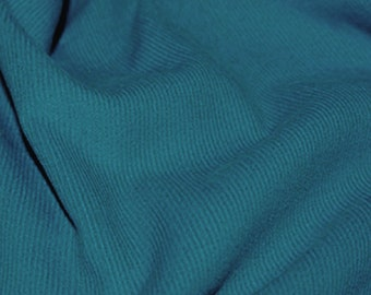 "Delph Blue - Needlecord Cotton Corduroy 21 Wale Fabric Material - 140cm (55"") wide"