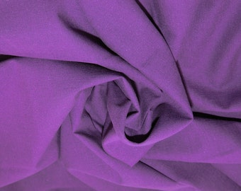 "Purple - Linen Look 100% Cotton Dress Fabric Material - Metre/Half - 58"" (145cm) wide"