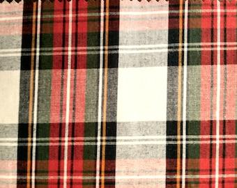 "Stewart Modern Dress - Flat Weave 100% Cotton Tartan Fabric Material - Double Sided - 147cm (58"") wide"