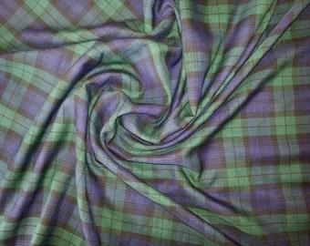 "Black / Blue / Green (Black Watch) - Tartan Fabric - PolyViscose - Metre/Half - 59"" (150cm) wide"