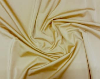 "Ivory - Plain Nylon/Spandex All-Way Stretch Fabric Material - 150cm (59"") wide per metre / half"