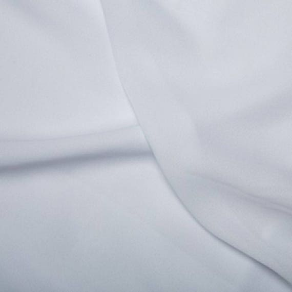 1 full metre 150cm wide White Polyester Satin fabric//material
