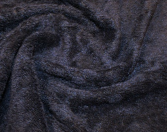 """Navy Blue Bamboo Terry Towelling Fabric - Plain Solid Colours - Towel Material - 150cm (59"""") wide"""