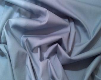 """Wodge Blue - 100% Cotton Poplin Dress Fabric Material - Plain Solid Colours - Metre/Half - 44"""" (112cm) wide"""