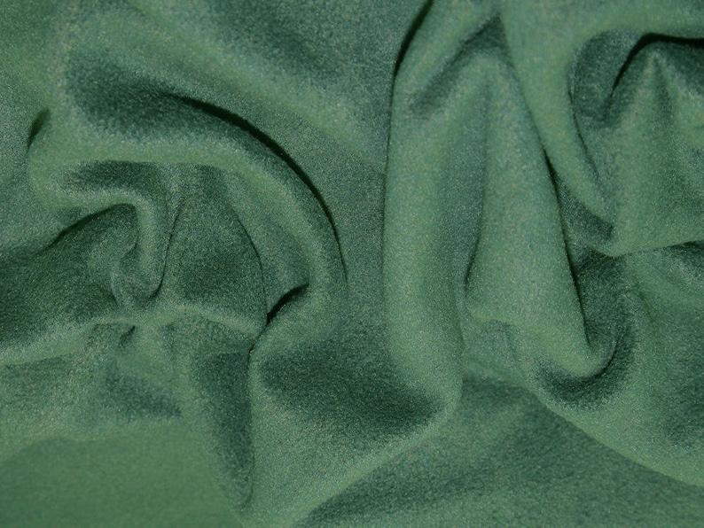 Polar Fleece Fabric Bottle Green 59 Anti Pil 150cm wide MetreHalf
