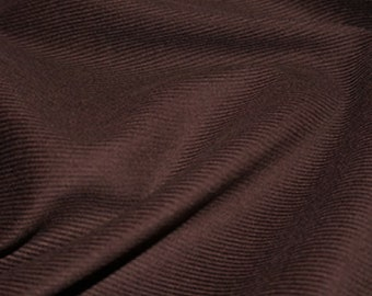 """Chocolate Brown - Needlecord Cotton Corduroy 21 Wale Fabric Material - 140cm (55"""") wide"""