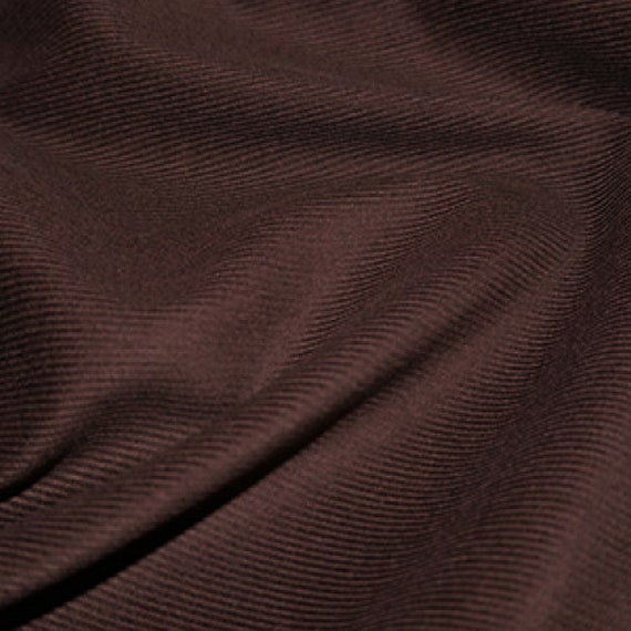 Chocolate Cotton Drill Fabric 150cm Wide