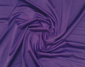 "Purple - Plain Nylon/Spandex All-Way Stretch Fabric Material - 150cm (59"") wide per metre / half"