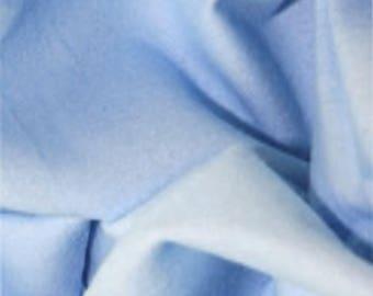 "Pale Blue - Plain Winceyette Flannelette 100% Brushed Cotton Fabric - 105cm (41"") Wide - per metre or half metre"