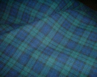 "Black Watch - Tartan Fabric - Brushed Cotton - Metre/Half - 59"" (150cm) wide"