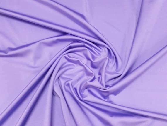 wide per metre  half 59 Plain Lycra Spandex Stretch Fabric Material Purple 150cm