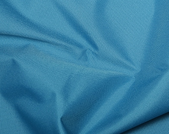 """Turquoise - Soft Water Repellent Polyester PU Coated Fabric - Plain Solid Colours - 57"""" (145cm) wide"""