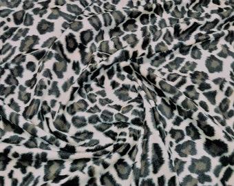 "Jaguar / Snow Leopard - Animal Print Polyester Velboa Fabric - Metre/Half - Faux Fur Pony Skin 58"" (145cm) wide Velour"