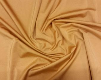"Gold - Plain Nylon/Spandex All-Way Stretch Fabric Material - 150cm (59"") wide per metre / half"