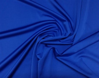 "Royal Blue - Plain Nylon/Spandex All-Way Stretch Fabric Material - 150cm (59"") wide per metre / half"
