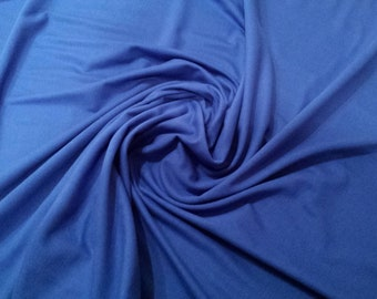 """Royal Blue - 100% Cotton Jersey Knit Fabric - T-Shirt, Stretch Material - 160cm (62"""") wide"""