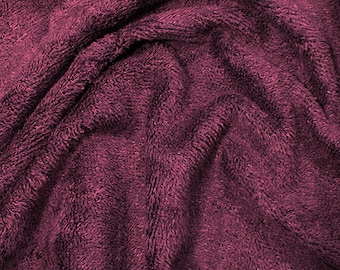"""Mauve Purple Bamboo Terry Towelling Fabric - Plain Solid Colours - Towel Material - 150cm (59"""") wide"""