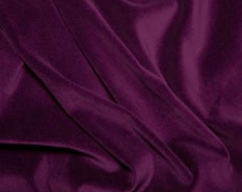 """Purple Premium 100% Cotton Velvet Fabric Material - 112cm (44"""") wide"""
