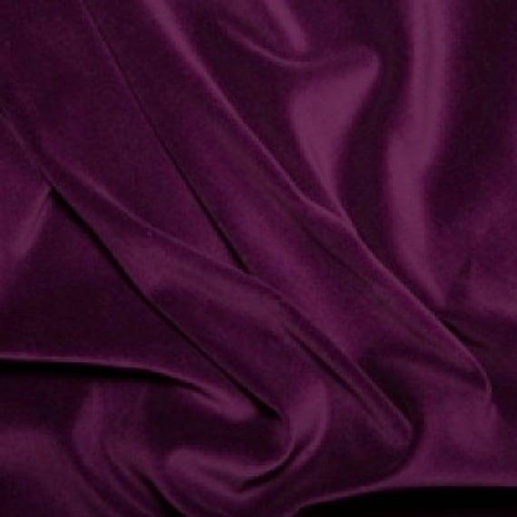 Terciopelo Algodón-Púrpura-Por Metro