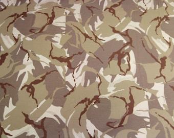 "Desert - Camo Camouflage 100% Cotton Drill Fabric - Medium Weight - 150cm (59"") Wide Dress Fabric"