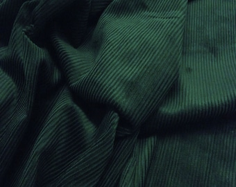 """Bottle Green - Cotton Corduroy 8 Wale Fabric Material - 144cm (56"""") wide"""