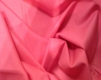 "Cerise Pink - 100% Cotton Poplin Dress Fabric Material - Plain Solid Colours - Metre/Half - 44"" (112cm) wide"