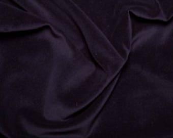 """Navy Blue Premium 100% Cotton Velvet Fabric Material - 112cm (44"""") wide"""