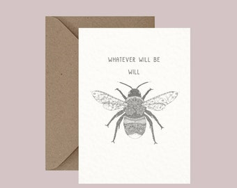 Bumble Bee Animal Pun Greeting Card, Miss You, Humor Humour, Funny Card, Love, Friendship, Romance, Alternative Cards, Little Dot Creations