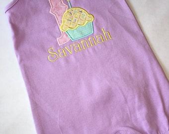 Birthday Cupcake Romper, Onsie, or T-shirt