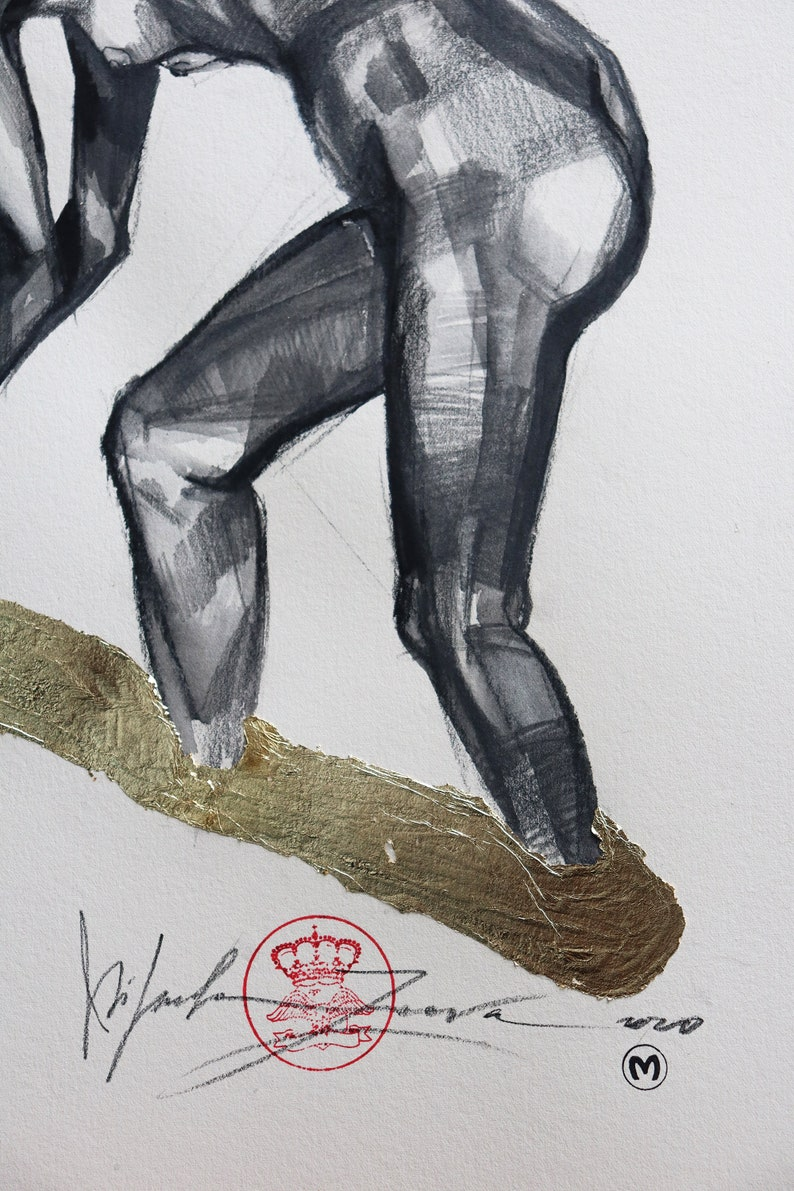 Original Nude DrawingCharcoalOriginal Painting Figure Painting