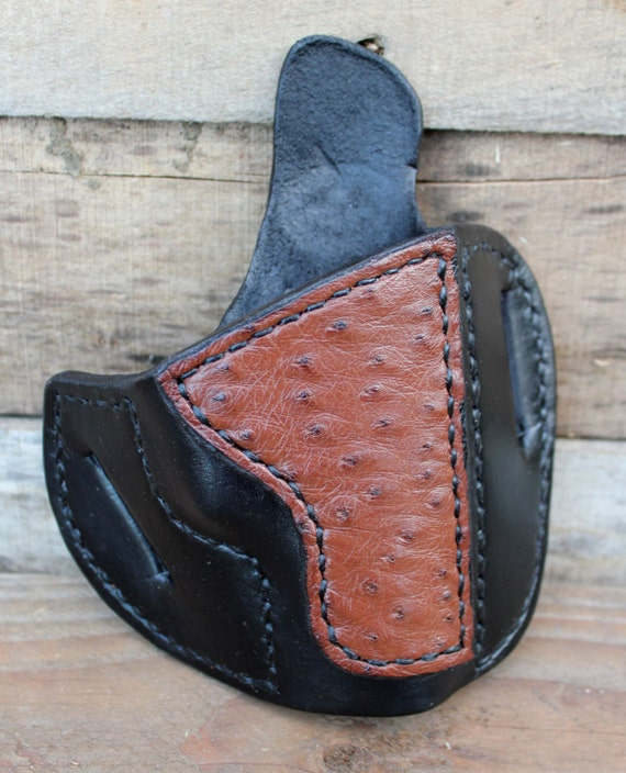 HANDMADE Leather Holster with Ostrich for Beretta Cheetah by Tin Badge  Leather