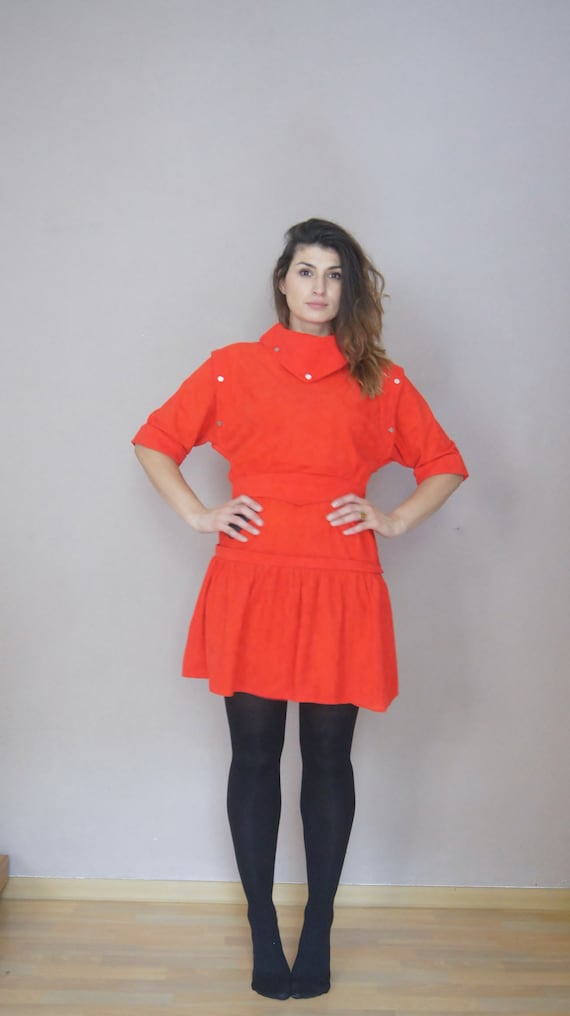 Red One ** 80s Vintage dress