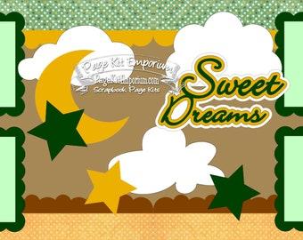 Scrapbook Page Kit Sweet Dreams Baby Girl Boy 2 page Scrapbook Layout Kit 010