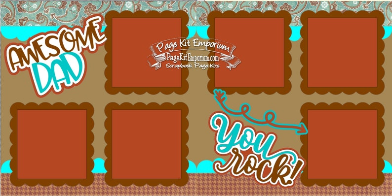 Scrapbook Page Kit Father's Day Awesome Dad 2 page image 0