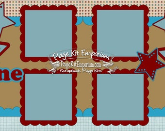 Scrapbook Page Kit You Shine Stars Die Cuts 2 page Scrapbook Layout Kit 099B