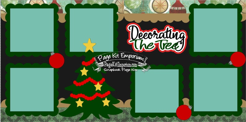 Scrapbook Page Kit Christmas Decorating The Tree 2 page image 0
