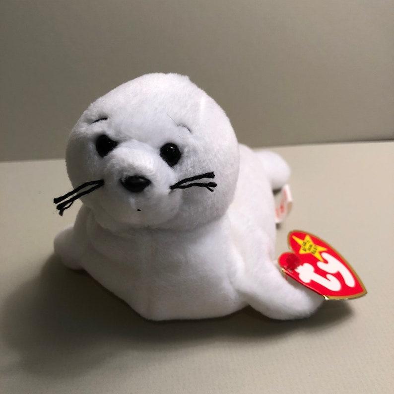 1f8ba981263 Seamore the White Seal Ocean Beanie Ty Original Beanie Baby