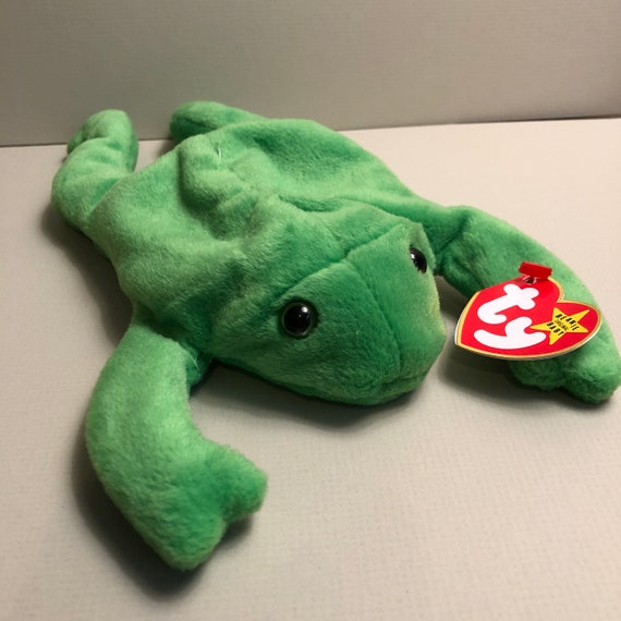Legs the Green Frog Ty Frog Beanie Babies Collection  df7fd367f8c
