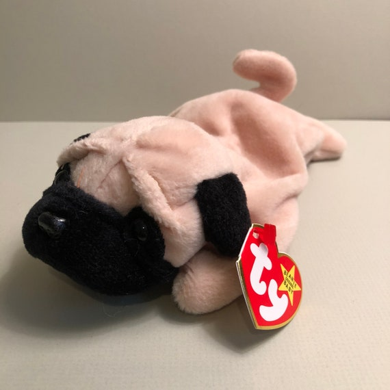 ... buy sale Pugsly the Pug Ty Dog Beanie Babies Puppy Baby Gift 47741  a2185 ... 2cae59079c