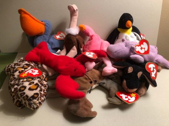 Ty Teenie Beanie Babies McDonald s Happy Meal Hippo 7e2386486091