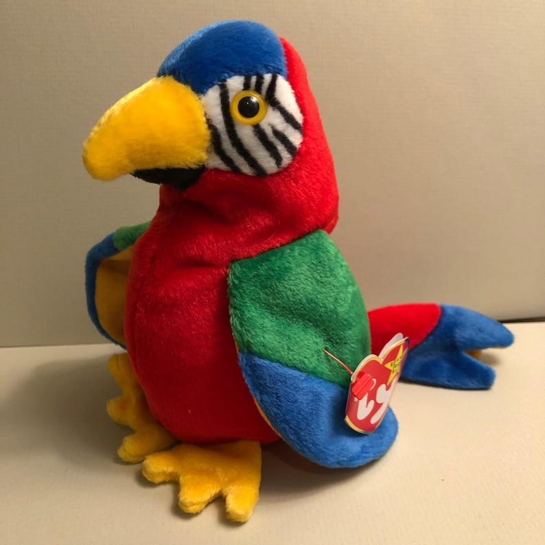b4289b54052 Jabber the Parrot from the Ty Bird Beanie Babies Collection