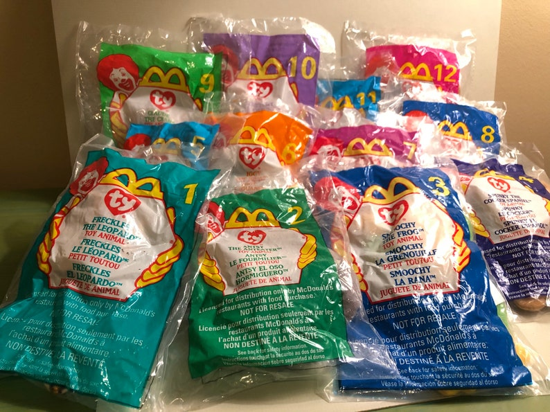 TY Teenie Beanie Babies McDonald s Happy Meal Promotion  54cd3fef7959