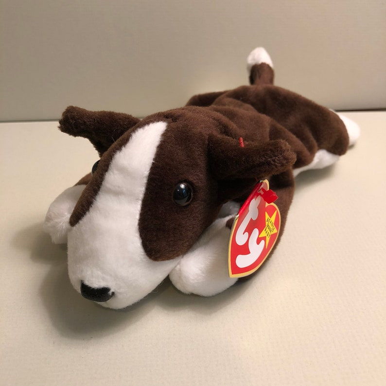 469385fd9d9 Bruno the Bull Terrier Ty Dog Beanie Babies Puppy Baby