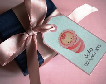 """Baby Shower Tags -  """"BABY"""""""