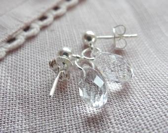Wedding earrings pearls Swarovski Crystal drops