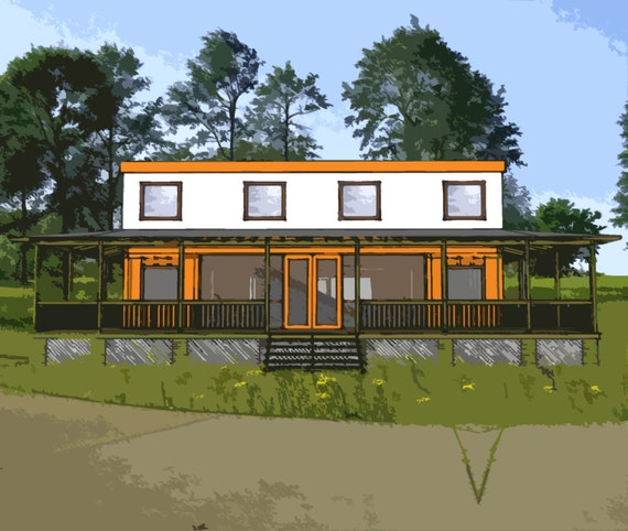 Shipping Container Home Plans 4 Bed 4 Bath Schematic